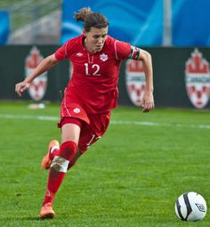 Christine Sinclair, captain of Team Canada and my fave player evah!
