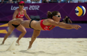 How I look when I'm playing beach volleyball. I think. I hope.